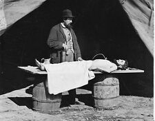 "Embalming Surgeon at Work on Soldier's Body 8""x 10"" Civil War Photo Picture 130"