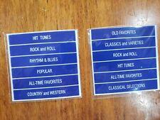 SEEBURG BLUE HEADERS MODELS R, J, L100, 161, 201, 220, 222, M100A, B, G,  W