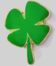 IRISH SHAMROCK LUCKY 4 LEAF CLOVER IRELAND ENAMEL PIN BADGE NEW FREE POST