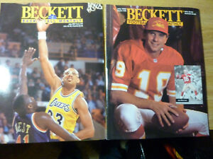 (12) Diff. Early 1990's Beckett Monthly Magazines Incl. June 1990 BB Bo Jackson