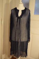 Traum: lange Tunika Kleid von Lysgaard in L 42 ♥ blau transparent Elfe Romantik