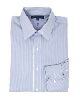 NWT Tommy Hilfiger Long Sleeve Men's White/Blue Dress Shirt