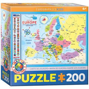 Eurographics 6200-5374 Karte von Europa 200 Teile Puzzle