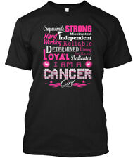 Compassionate Strong Cancer Girl Zodiac Hanes Tagless Tee T-Shirt