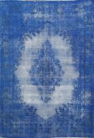 Antique Overdyed Traditional Area Rug Distressed Evenly Worn Hand-knotted 5x6 ft