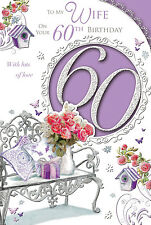 XPRESS YOURSELF WIFE - HAPPY 60TH BIRTHDAY CARD - CELEBRITY STYLE SERIES