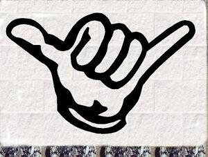 Hang Loose Aufkleber Kite Surf Beach Surfergruß SHAKA Sticker