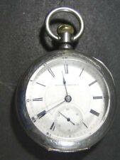 1886 Hampden Watch Co Coin Silver Case POCKET WATCH - TBR