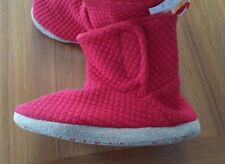 NWT Old Navy Toddler Boys Girls SZ 11 Quilted Jersey Bootie Slippers RED  #21118