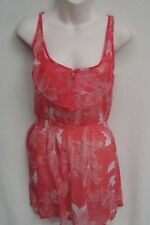 BILLABONG size 8 Orange Floral Summer Dress new