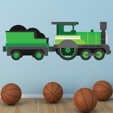Green Train Steam Engine Wall Sticker WS-46601