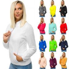 Fleecejacke Pullover Sweatjacke Sweatshirt Übergangs Zip Fleece Damen OZONEE 001