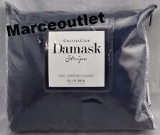 Charter Club Damask Stripe 550 Thread Count QUEEN Sheet Set Navy Blue