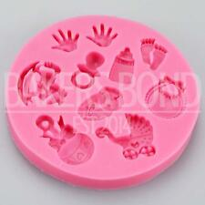Hand Prints & Feet Baby Christening Silicone Mould Newborn Chocolate Cake Baking
