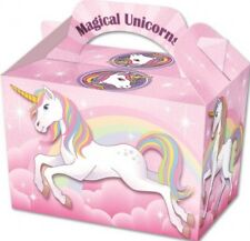 6 UNICORN BOXES BIRTHDAY PARTY LOOT WEDDING FAVOUR FOOD LUNCH GIFT BOXES