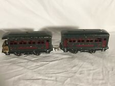 Lionel 629 and 630 Passenger Cars O gauge Pre-war tinplate