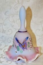Fenton, Bell, Blue Burmese, Hand Decorated, Limited Edition, Designer Bell.
