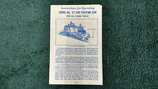 LIONEL # 52 FIRE FIGHTING CAR INSTRUCTIONS PHOTOCOPY
