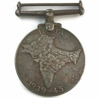 Original WW2 1939-45 Indian Service India War Medal UNNAMED - HE94
