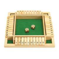 Spiel Holz Würfelspiel Klappenspiel Brettspiel Familienspiel Shut the Box 4