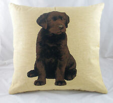 "18"" Chocolate Labrador Puppy Dog Tapestry Cushion LB538"