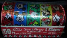 Vintage Walt Disney Wrapping Ribbons, MISP!  Great Disney Charaters!