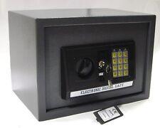 CASSAFORTE ACCIAIO ELETTRONICA + CHIAVE COMBINAZIONE DIGITALE SCURA 35cm NEW
