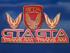 87-90 Pontiac Firebird Trans Am GTA 5pc Badge Set (6 colors)