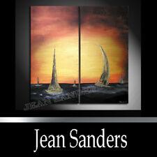 """JEAN SANDERS - MODERN Kunstgemälde """"REGATTA"""" 2-teilig"""