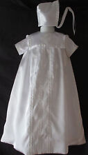 Reborn/Baby Girls or Boys Satin Christening Gown Baptism Outfit  Size 0-6 Months