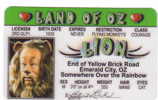 Cowardly Lion - The Wizard of OZ novelty plastic collectors card Drivers License