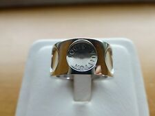Authentic Louis Vuitton LV 18k white gold wide band Empreinte ring large $3,400