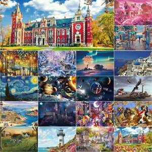 Adult 1000 Piece Jigsaw Puzzles Game Difficult Castle Space Animal Romantic Town