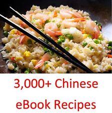 3,000+ recetas chinas Ebook Libros De Cocina & en un DVD ROM