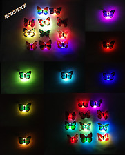 Set x 3 Decorative led Butterfly adhesive lamp RGB multicolor for party events