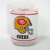 Mobil NFL San Francisco 49ers Helmet Souvenir Memorabilia Glass Football Barware