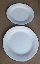 "2 Vintage Noritake China Japan #2752 TEMPTATION 10 ½"" Round Dinner Plates Set"