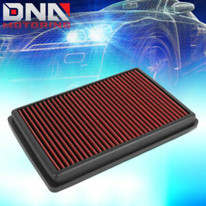 FOR 2019-2020 ACURA RDX 2.0L RED HI-FLOW ENGINE DROP-IN AIR FILTER INTAKE PANEL