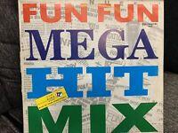 "FUN FUN MEGA HIT MIX / GIVE UP YOUR FIGHT 12"" LP 1988 GERMAN ZYX 5833"