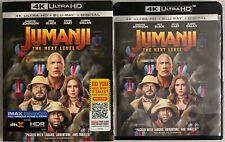 JUMANJI THE NEXT LEVEL 4K ULTRA HD BLU RAY 2 DISC SET + SLIPCOVER SLEEVE & MAP