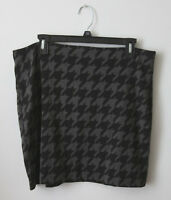 NWT New Banana Republic Gray Black Houndstooth Print Career Skirt Size 12 Office