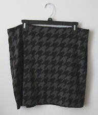NWT New Banana Republic Gray Black Houndstooth Print Career Skirt Size 12 Office