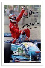 JEAN ALESI & MICHAEL SCHUMACHER F1 AUTOGRAPH SIGNED PHOTO PRINT FORMULA ONE