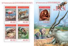 Animales Fauna Monos Aves Tigres Insectos Tiere Mozambique MNH Juego de Sellos