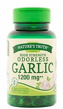 Natures Truth Garlic 1200mg Odorless Supplements 120 Softgels Each