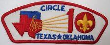 Circle Ten  571 Dalls, TX T-1 ($10-15) cloth back [B4765]