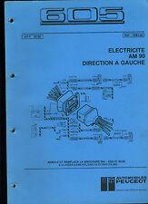 (120) MANUEL ATELIER SCHÉMAS ÉLECTRIQUES PEUGEOT 605 de 05/1990