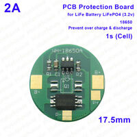 2A 3.2V 1S LiFePO4 18650 Battery Over Charge Discharge Protection Circuit Round