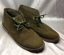 POLO RALPH LAUREN Shoes 13 Mens Green Suede Synthetic Leather Ankle Boots