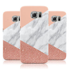 MARBLE WHITE ROSE GOLD GLITTER CASE COVER FOR SAMSUNG GALAXY MOBILE PHONES